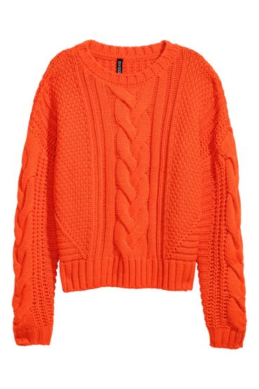 HM Bright Cable Knit Jumper