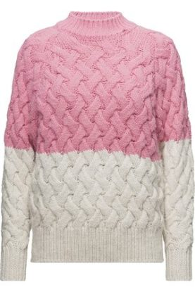 MNG Bi-Colour Cable Knit Sweater